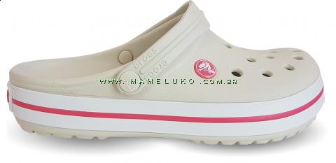 Babuche Crocs Crocband - Stucco com Melon