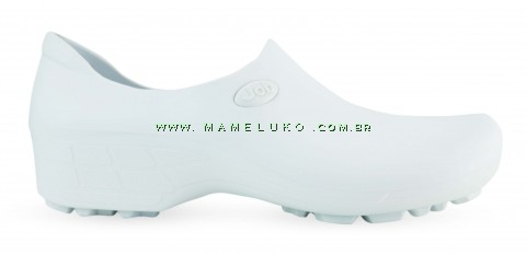 Sapato Antiderrapante para Terrenos Arenosos Sticky Shoe JOB Woman - Branco