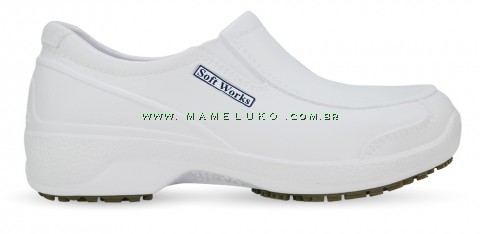 Sapato Profissional Antiderrapante Soft Works BB67 - Branco