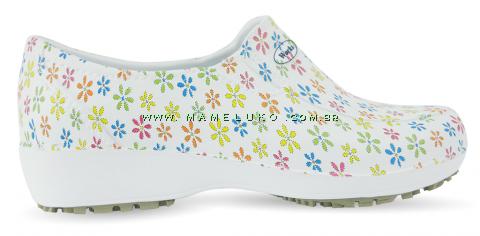 Sapato Lady Works - Mini Flores Coloridas