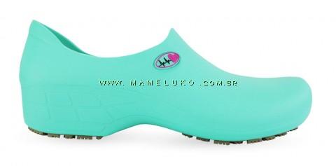Sapato Antiderrapante Sticky Shoe Florence - Eletro Heart - Verde Medicina/Rosa