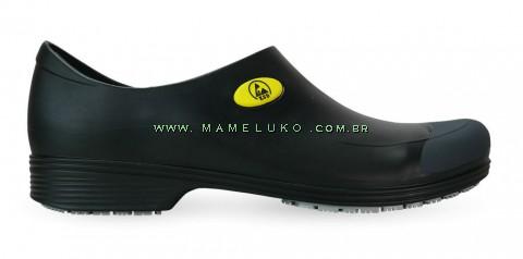 Sticky Shoe Man Antiestático ESD - COM BICO - Preto