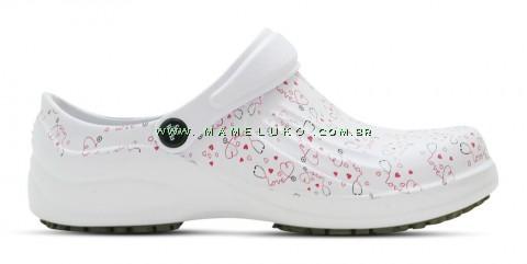 Babuche Profissional Soft Works Estampado Com Palmilha - Esteto Love - Branco