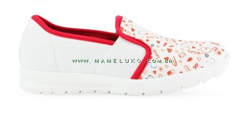 Tênis Florence Sunny esteto love - Branco