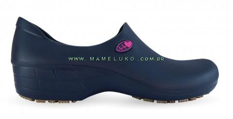 Sapato Antiderrapante Sticky Shoe Florence - Eletro Heart - Azul/Rosa