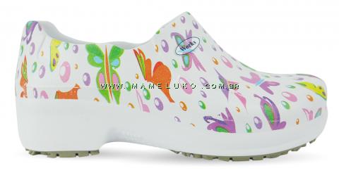 Sapato Profissional Soft Works II Estampado - Borboletas