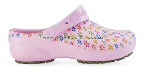 Babuche Profissional Soft Works Estampado Flores - Rosa