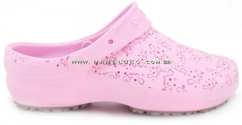 Babuche Profissional Soft Works Estampado Rosa - Esteto Love
