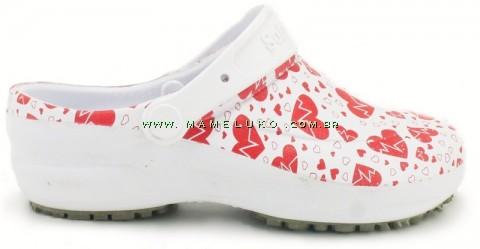 Sapato Profissional Soft Works Estampado - Eletro Coração