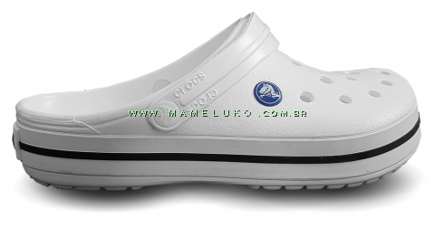 Babuche Crocs Crocband - Branco