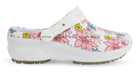 Babuche Profissional Soft Works Estampado - Flor Rosa