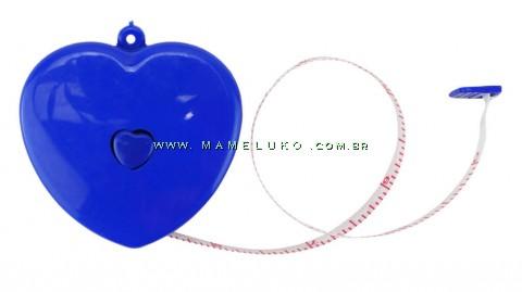 Fita Métrica Corporal 1,50mt Coração - Azul