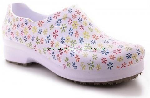 Sapato Profissional Soft Works II Estampado - Estampa Flores