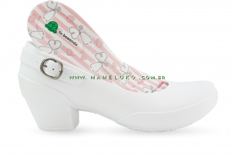 Sapato Boa Onda Galicia Listras Esteto - Branco