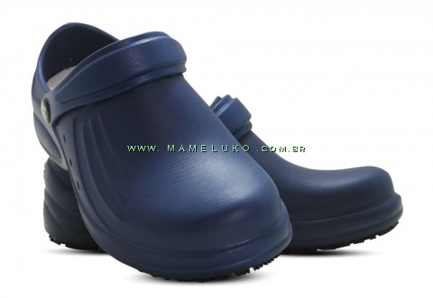 Babuche Profissional Soft Works Antiderrapante com Palmilha - Azul Marinho