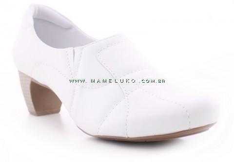 Sapato Neftali 4773 com Salto em borracha - Branco