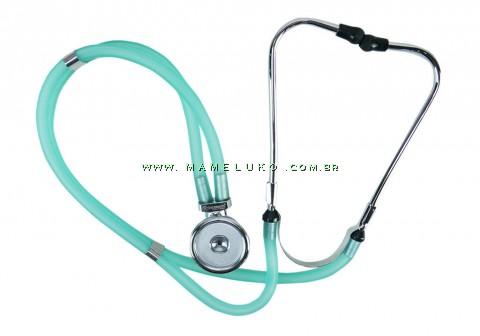 Estetoscópio Profissional Rappaport - Verde Medicina