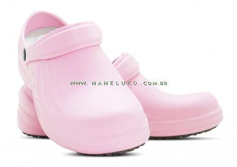Babuche Profissional Soft Works Antiderrapante com Palmilha - Rosa