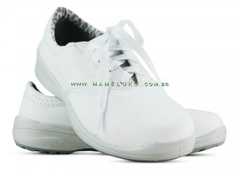Sapato Com Cadarço - Branco
