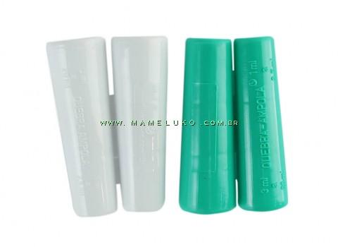 Kit 02 Apoio seguro para abrir ampolas de 1 ml a 20 ml - Verde/Branco