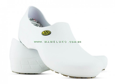 Sapato Antiderrapante Sticky Shoe Go Cook Woman Talheres - Branco