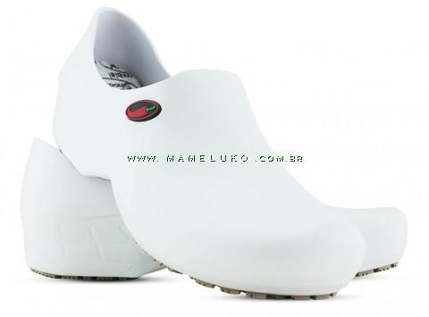 Sapato Antiderrapante Sticky Shoe Go Cook Woman Pimenta - Branco