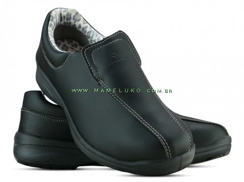 Sapato Microfibra Com Elástico - Preto