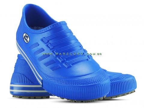 Tênis Profissional Antiderrapante Soft Works - Azul Royal com revirão azul