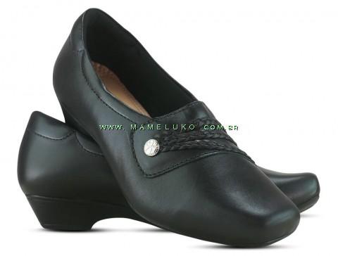 Sapato em Couro Salto Mini Neftali 38017 - Preto - Pin Esteto Love