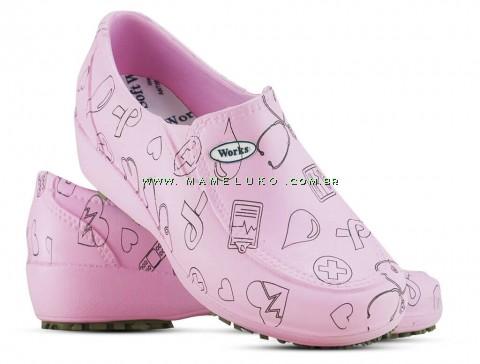 Sapato Lady Works - Área da Saúde - Rose