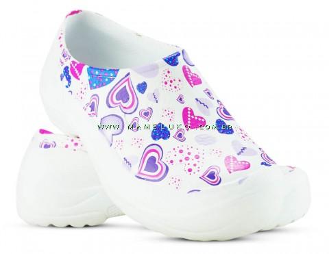 Sapato Kemo Profissional 5 (COM CA) - Branco Estampado