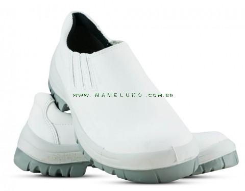 Sapato Com Elástico Com Biqueira Plástica - Branca