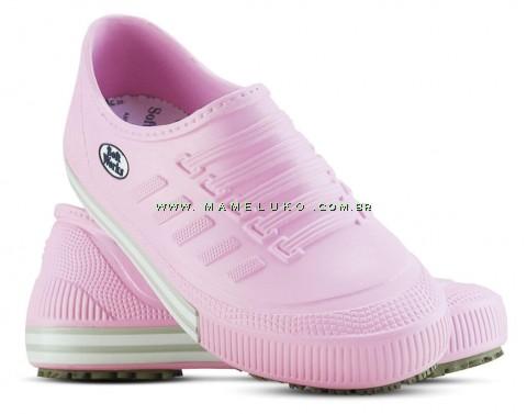 Tênis Profissional Antiderrapante Soft Works - Rosa com revirão rosa