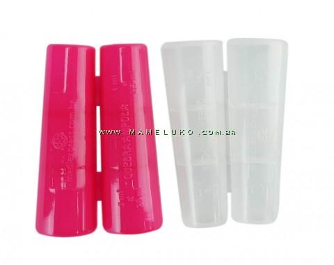 Kit 02 Apoio seguro para abrir ampolas de 1 ml a 20 ml - Pink/Transparente