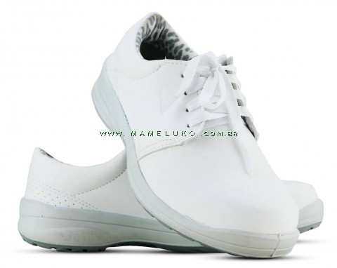 Sapato Com Cadarço Microfibra - Branco