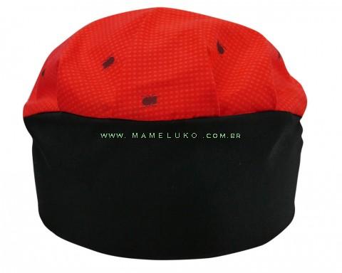 Touca Elástica Profissional Formiga - Vermelho com Aba Preta