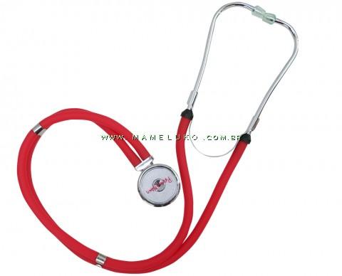 Estetoscópio Rappaport Premium - Vermelho