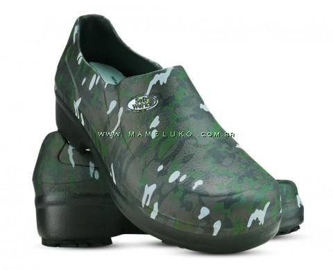 Sapato Profissional Soft Works II Estampado Preto - Militar