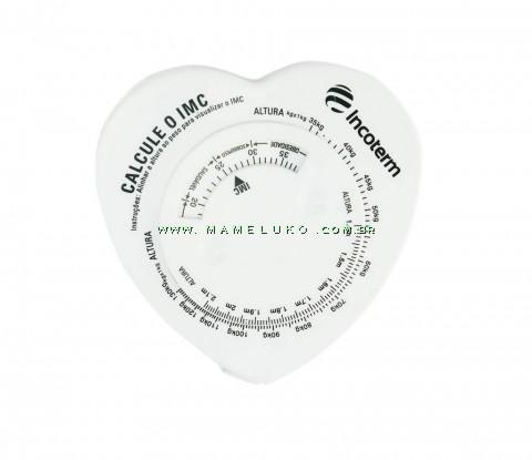 Fita Métrica com Cálculo de IMC Incoterm - Branco