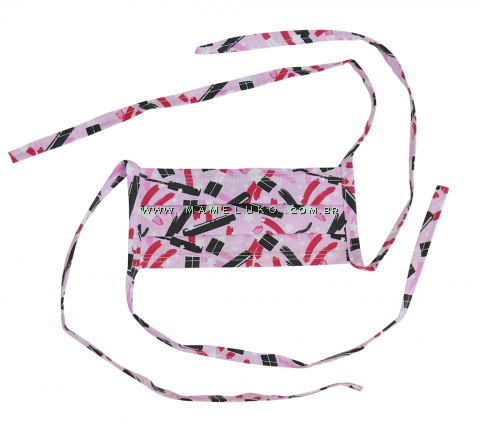 Máscara Profissional Reutilizável Batom - Pink Máscara Profissional Reutilizável Batom - Pink