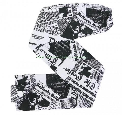 Capa de Proteção para Estetoscópio Noticias de Jornal - BrancoPreto