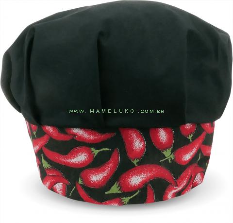 Touca Profissional Gourmet - Pimenta Preta