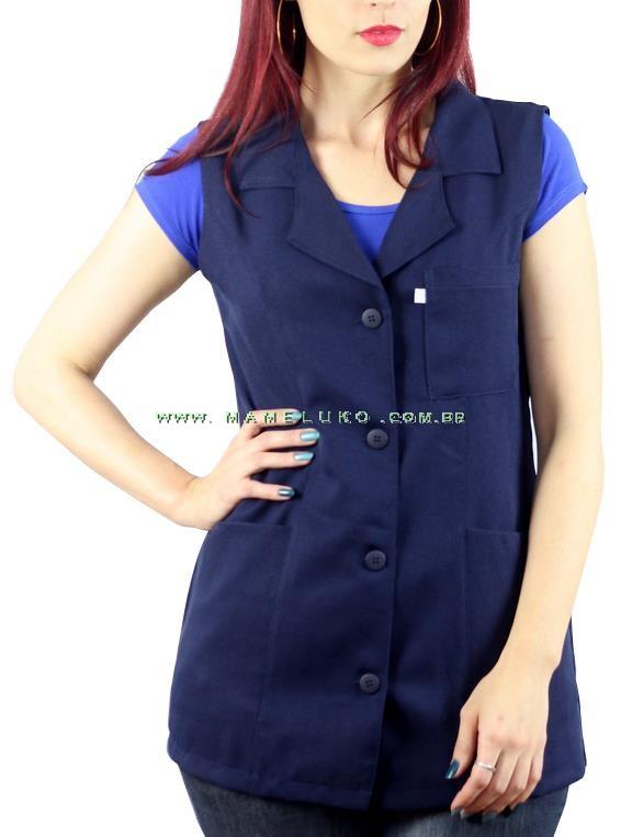 JalecoAvental Cavado Enfermeira Padrão Plus Size - Azul Marinho 7b99322a39d0b