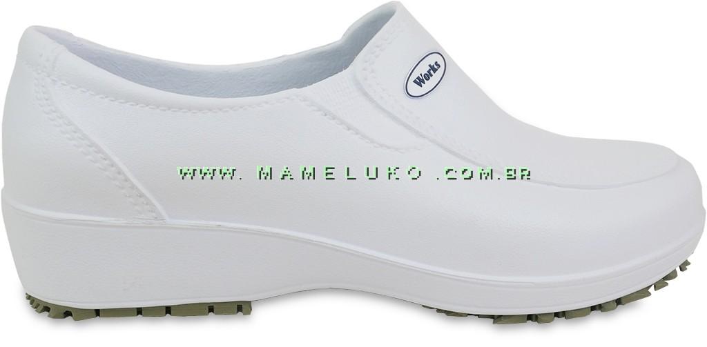 4f673ee05 Sapato Antiderrapante Soft Works L Branco na Mameluko