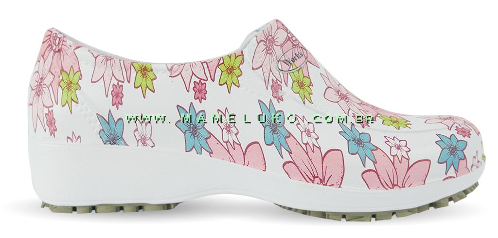 eb0bbfd1ef Sapato Lady Works - Flor Rosa por R 84