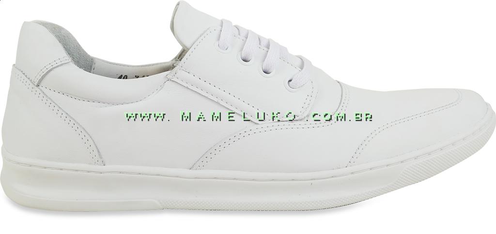 04b6df703 Sapato Masculino em Couro 748 Cada Branco na Mameluko