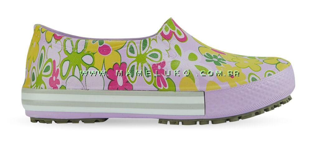 d578b30ef1 Tênis Profissional Iate Works II Estampado Flor Verde - Lilas