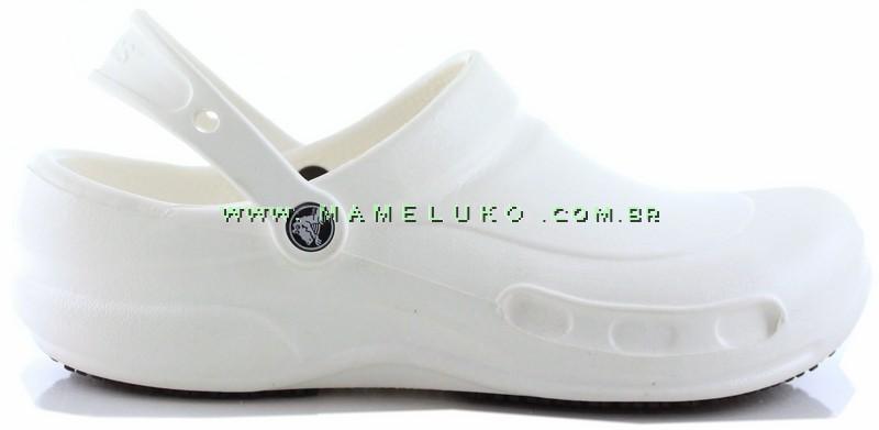 1bf757b58b6 Babuche Crocs Bistro - Branco por R 169