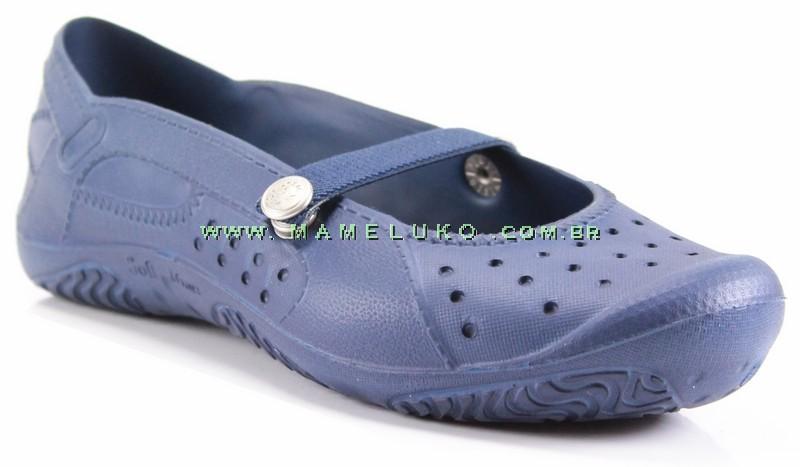 8107d5481b9 Sapatilha Soft Mania Fechada com C Azul Marin na Mameluko