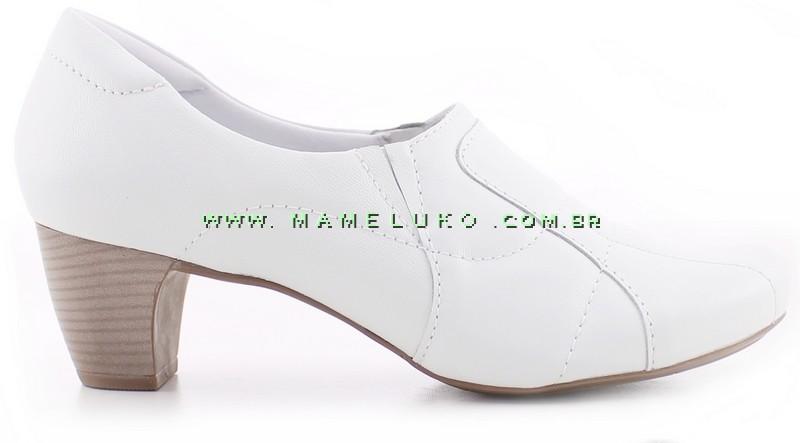 0d6d80008 Sapato Neftali 4773 com Salto em b Branco na Mameluko